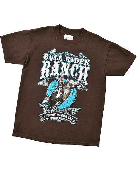 Cowboy Hardware Boys' Bull Rider Ranch T-Shirt - 5-16
