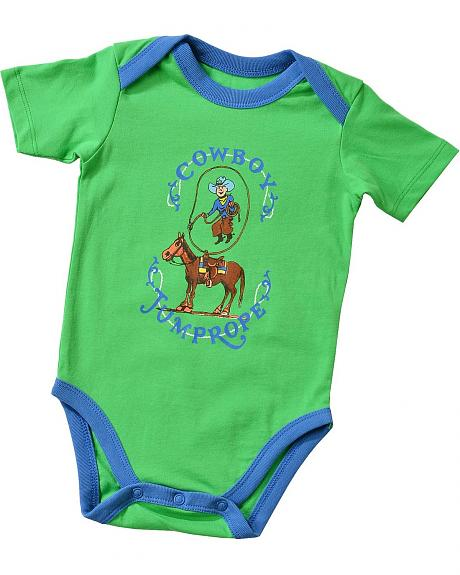 Wrangler Infant Boys' Cowboy Jump Rope Bodysuit - 6M-18M