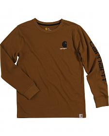 Carhartt Boys' Brown Long Sleeve Shirt (4-7)