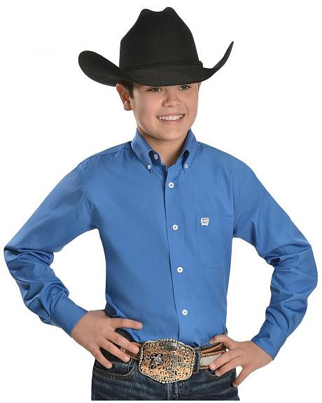 Cinch ® Boys' Blue Button Shirt - 5-16