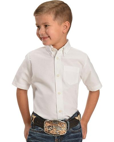Dickies Boys Oxford Short Sleeve Shirt 4-8 Western & Country KS920WH