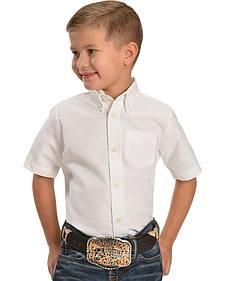 Dickies Boys' Oxford Short Sleeve Shirt - 4-8