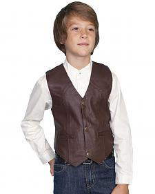 Scully Boys' Lambskin Vest