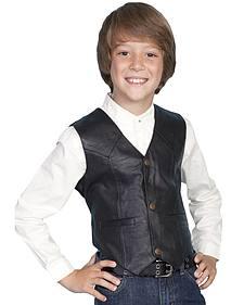 Scully Boys' Lambskin Vest