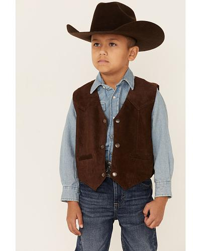Scully Boys Boar Suede Vest $34.99 AT vintagedancer.com
