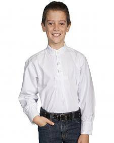 Scully Boys' Pleated Front Long Sleeve Shirt