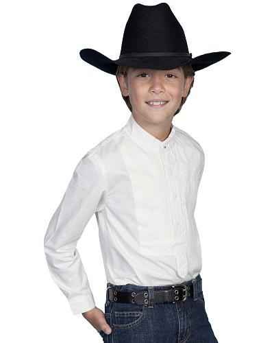 Scully Boys Tuxedo Front Shirt Western & Country RW032K WHT