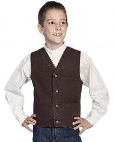 Scully Boys' Canvas Vest