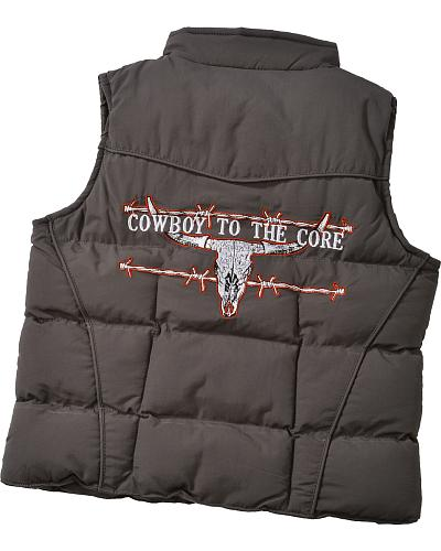 "Red Ranch Boys Nylon ""Cowboy To The Core"" Zip Up Vest Western & Country 786019R-043"