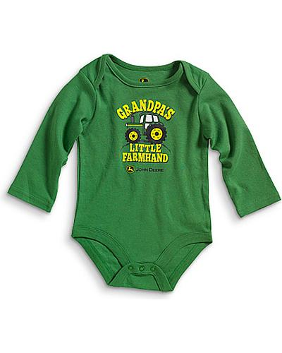 "John Deere ""Grandpas Little Farmhand"" Bodysuit 3M-12M Western & Country JFBT029G1N1"