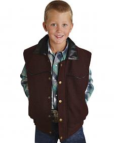 Roper Boys' Wool Vest