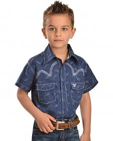 Cowboy Hardware Boys' Barbed Wire Short Sleeve Shirt