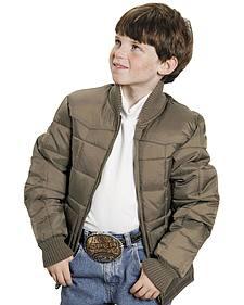 Roper Boys' Range Gear Quilted Nylon Jacket
