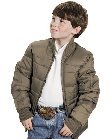 Roper Boys' Range Gear Quilted Nylon Jacket