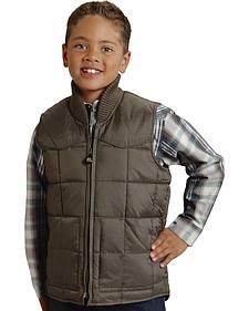 Roper Boy's Rangegear Quilted Nylon Vest
