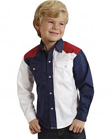 Roper Americana Collection Boys' Solid Block Western Shirt