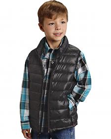 Roper Boy's Rangegear Crushable Black Vest