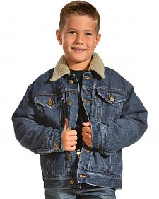 Red Ranch Denim Jacket with Sherpa Lining