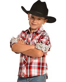 Red Ranch Boys' Red Plaid Shirt