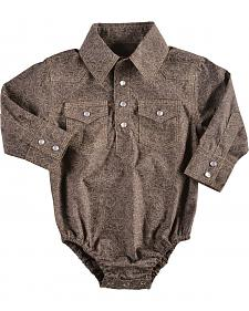 Red Ranch Infant Boys' Brown Paisley Western Snap Bodysuit