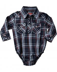Red Ranch Infant Boys' Navy Plaid Bodysuit