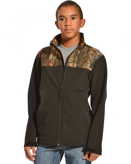 Red Ranch Boys' Bonded Jacket with Camo Yoke