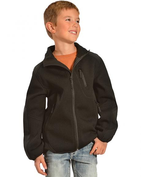 Red Ranch Boys' Black Bonded Jacket with Knit Inset