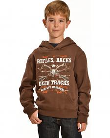 "Cowboy Hardware ""Rifles, Racks, and Deer Tracks"" Hooded Sweatshirt"