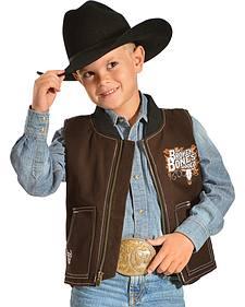 Cowboy Hardware Boys' Broken Bones Canvas Vest