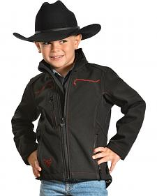 Cowboy Hardware Toddler Boys' Skull Barbwire Polyshell Jacket