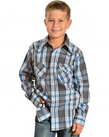 Cowboy Hardware Boys' Wild West Plaid Western Shirt