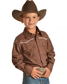 Red Ranch Boys' Buckin' Horse Western Shirt