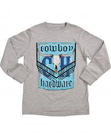 "Cowboy Hardware Boys' ""American Born"" Long Sleeve T-Shirt"