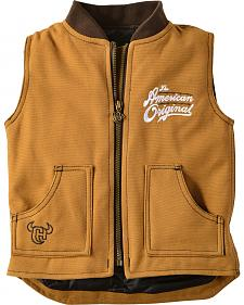 "Cowboy Hardware Toddler ""American Original"" Canvas Vest"