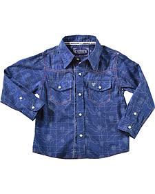 Cowboy Hardware Toddler's Tangled Barbwire Western Shirt