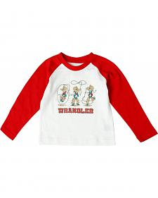 Wrangler All Around Baby Toddler Boys' Lasso Cowboy Long Sleeve Tee