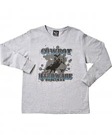 Cowboy Hardware Boys' Original Bull Rider Long Sleeve Tee