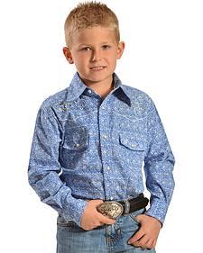 Cowboy Hardware Boys' Team Roper Paisley Print Shirt