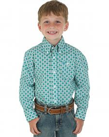 Wrangler Boys' George Strait Multi-color Print Shirt