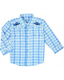 Wrangler Infant Boys' Long Sleeve Plaid Shirt