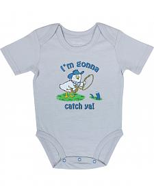 "Wrangler Infant Boys' Short Sleeve ""Gonna Catch Ya"" Onesie"