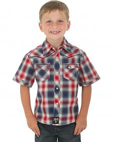 Wrangler Rock 47 Boys' Short Sleeve Shirt with Embroidered Yoke