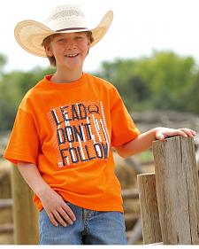 Cinch Boys' Lead, Don't Follow T-Shirt