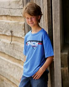 Cinch Boys' Blue Logo T-Shirt