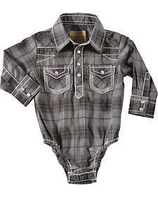 Crazy Cowboy Infant Boys' Plaid Bodysuit
