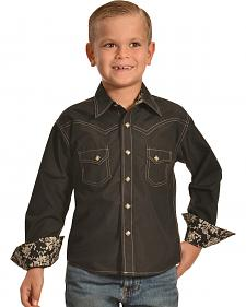 Crazy Cowboy Boys' Western Snap Shirt