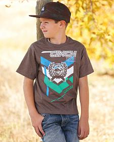 Cinch Boys' Brown Logo T-Shirt