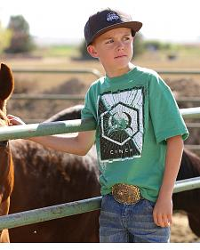 Cinch Boys' Green Logo T-Shirt