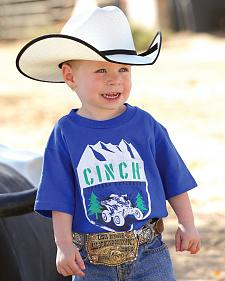 Cinch Toddler Boys' Blue Logo T-Shirt