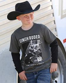 Cinch Boys' Grey Rodeo T-Shirt